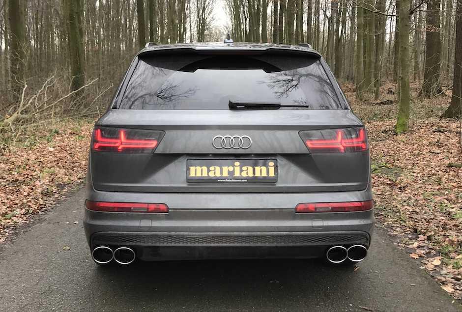 Audi Q7 Sq7 Auspuff Tuning mit 4-Rohr